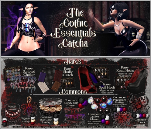 Gatcha Board- Goth Essentials