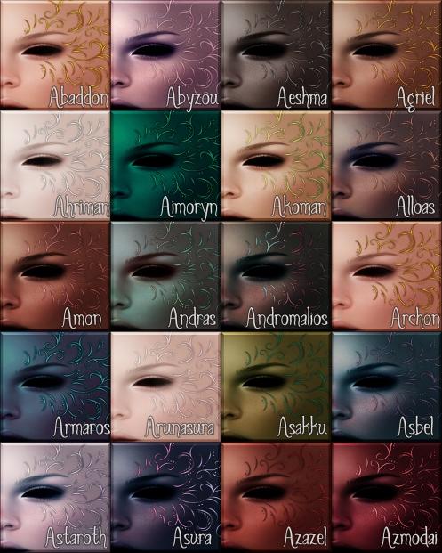 Draziele & Drazaren Color Swatches